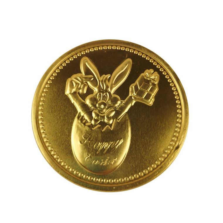 Milk Chocolate Easter Gold Medallion