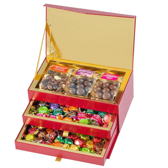 "Keepsake Red 3-Layer ""Jewellery Box"" Chocolate Hamper"