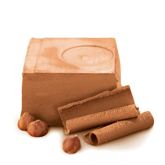 Gianduja, Belgian Hazelnut Slab, 1kg Box (Gift Wrapped)