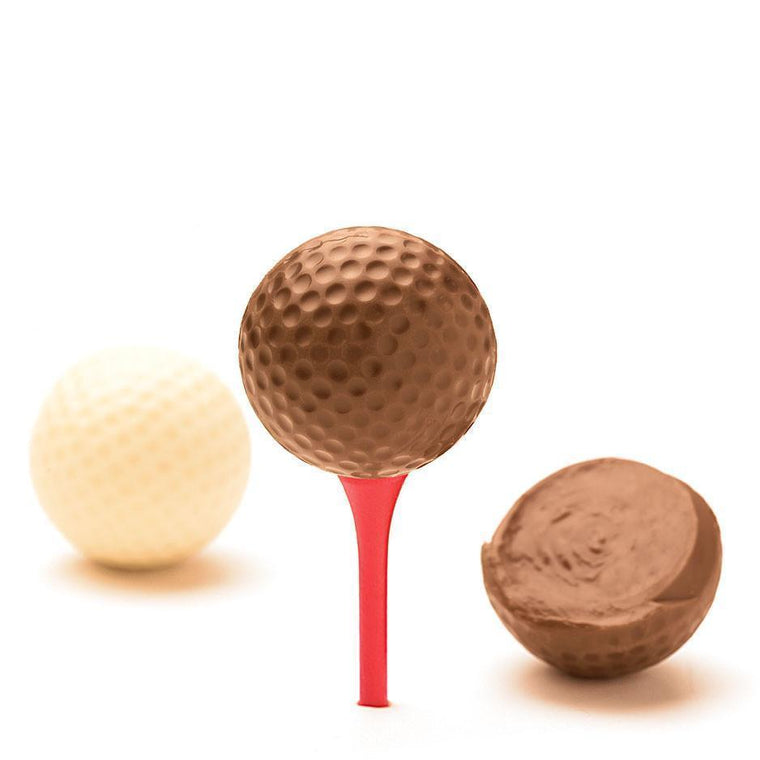 Golf Balls, Hazelnut Praline Filled, 4-pack 300g