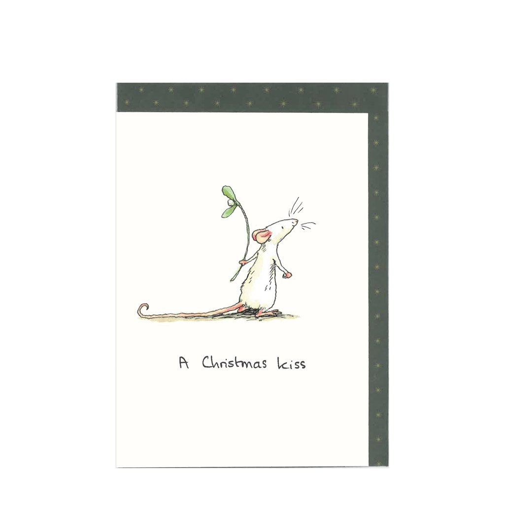 Christmas Greeting Card & Envelope, Premium Card by Two Bad Mice Designs