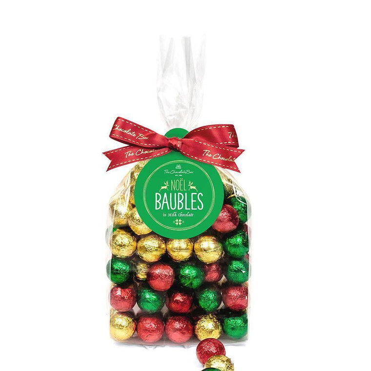 Milk Chocolate Christmas Baubles, Gift Bag 500g