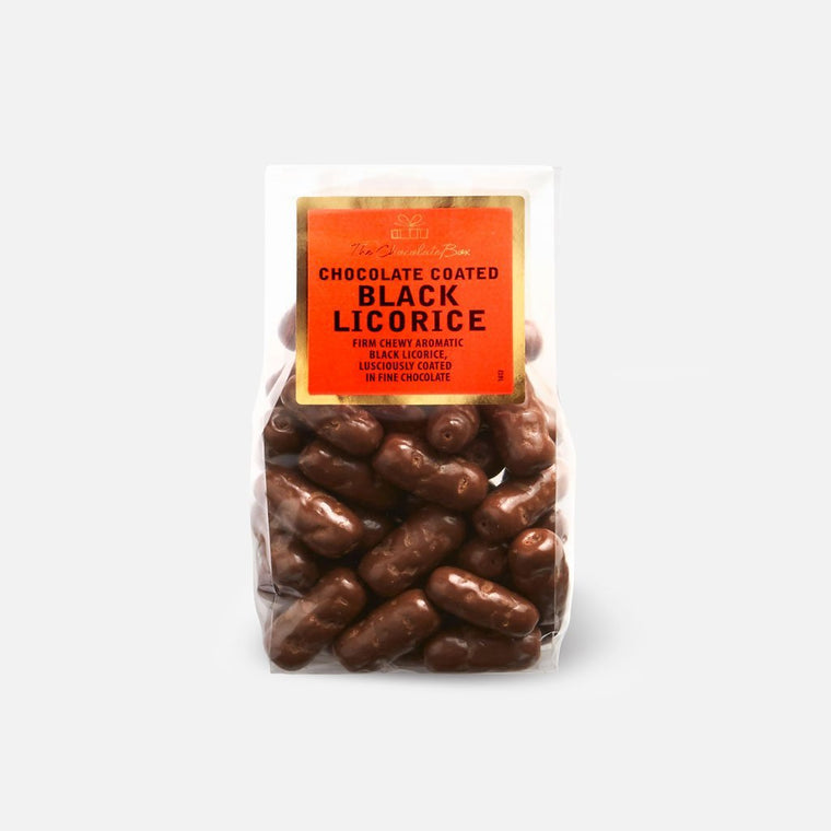 Licorice Logs, Milk Chocolate 200g