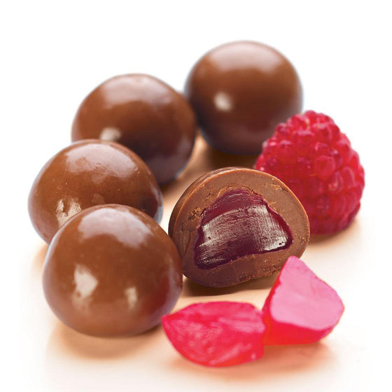 Raspberries, Milk Chocolate 1kg Bag