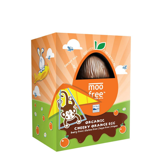 MooFree Orange Chocolate Dairy Free Gluten Free Organic Easter Egg