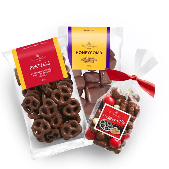 Movie Night In Bundle with Honeycomb, Movie Mix and Choc Pretzels