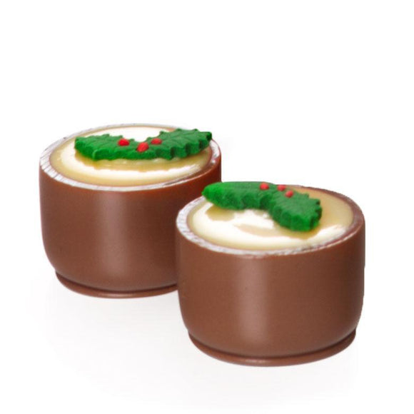 Gourmet Christmas Puddings, Milk Chocolate 9-piece Box