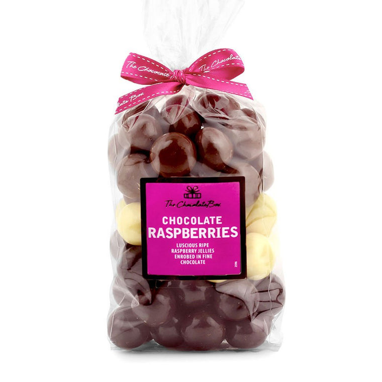 Raspberries, Milk Dark and White Assorted, 1kg Bag