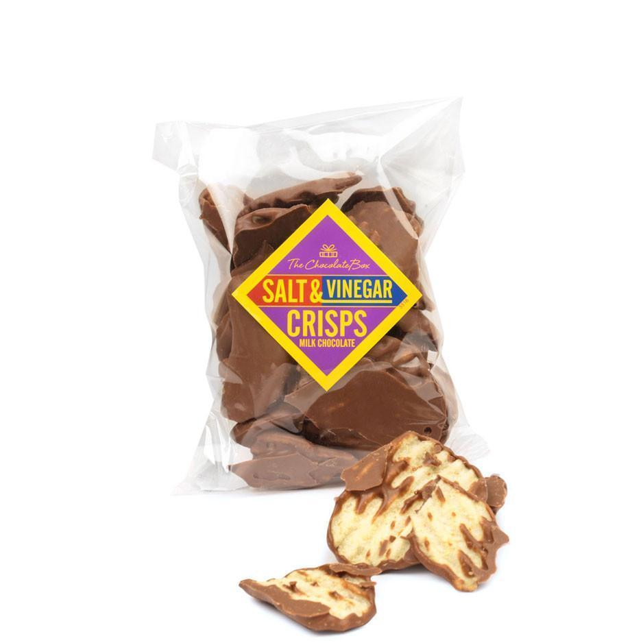 Salt and Vinegar Crisps, Milk Chocolate 200g
