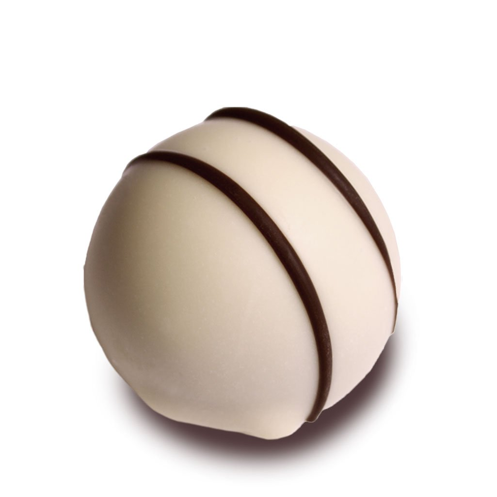 6 white honey truffle chocolates
