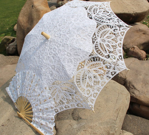 Umbrella Lace Parasols Set Wedding