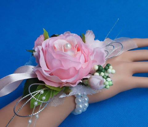 Bridesmaid  Corsage Artifical Tea Rose  Event & Party Supplies