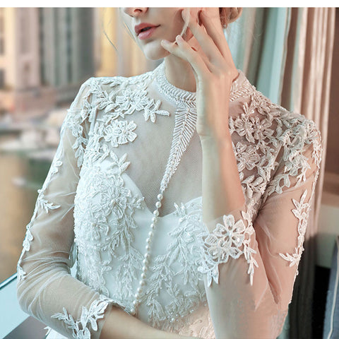 Bridal Beaded Sequin A Line Lace Wedding Dress 2017 Weeding Tulle Cap Sleeve Long Wedding Gown