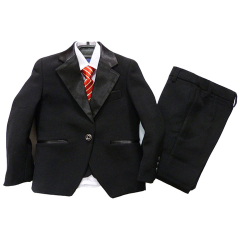 Boys Black Tuxedo Suits Kids Wedding Suits Black Dress Suit for Weddings Children Wedding Clothes