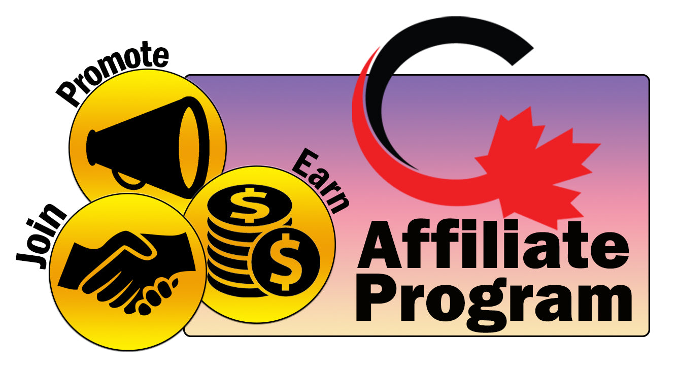 Image of our Affiliate Program Logo with the words Join, Promote, and Earn emblazoned