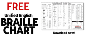 FREE Unified English Braille Chart
