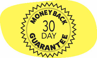 Image of a badge which reads Money Back Guarantee