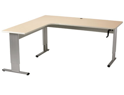Accella Adjustable L-shape Desk