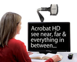 Reading a book with Acrobat HD ultra Electronic Magnifier