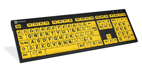 Image of a Nero PC Large Print Keyboard - French Canadian Layout