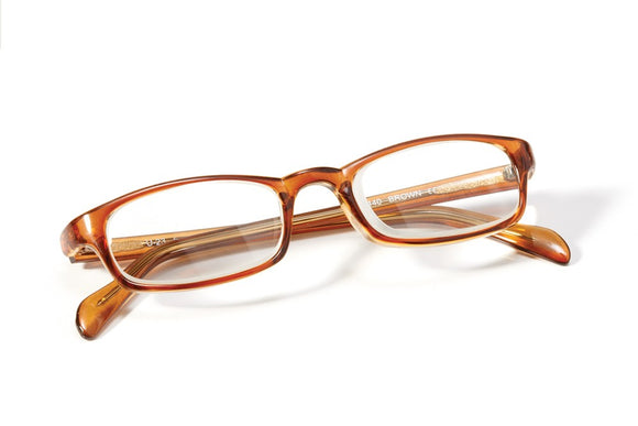 Prismatic Spectacles - Brown Plastic Frame