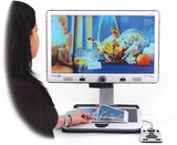 Woman using Merlin Elite to view photos
