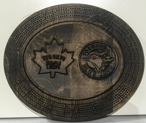 Toronto Maple Leafs / Blue Jays 3D Cribbage Board - Laser's Edge Design RD