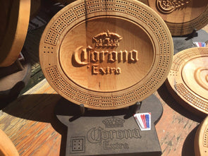 3D Corona Cribbage Board - Display Stand Optional. - Laser's Edge Design RD