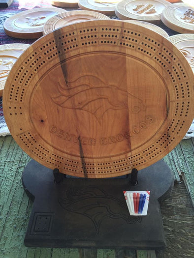 Denver Broncos Cribbage Board - Laser's Edge Design RD