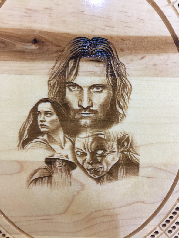 Lord of the Rings Cribbage Board - Laser's Edge Design RD