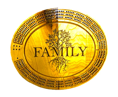 Family Cribbage Board - Laser's Edge Design RD