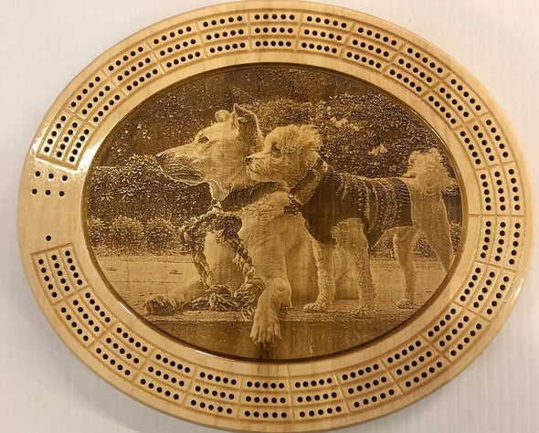 Photo Engraved Cribbage Board