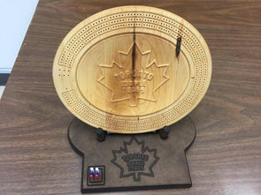 3D Toronto Maple Leafs Cribbage Board - Stand included if ordered. - Laser's Edge Design RD