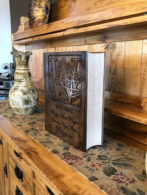 Custom Wedding Memory Book - Laser's Edge Design RD
