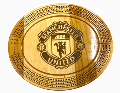 Engraved Manchester United Cribbage Board - Laser's Edge Design RD