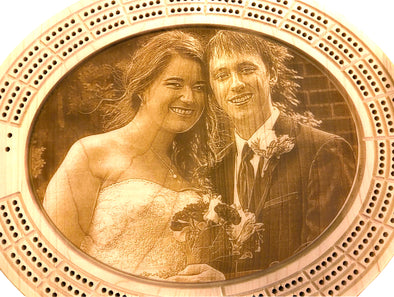 Photo Engraved Cribbage Board - Laser's Edge Design RD