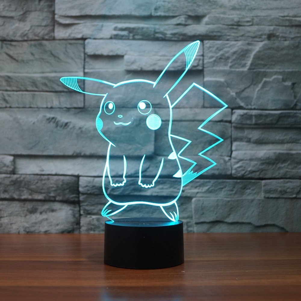 Pikachu 3D LED Night Light - Rare Norm