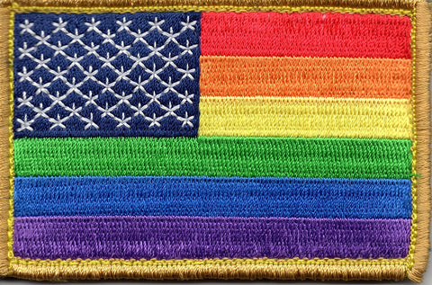 Rainbow US Flag Patch - Rare Norm