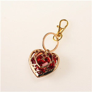 The Legend of Zelda Red Heart Crystal Gold neckless Free - Rare Norm