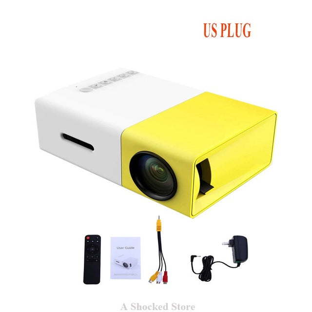 Mini Home Projector with LEDs