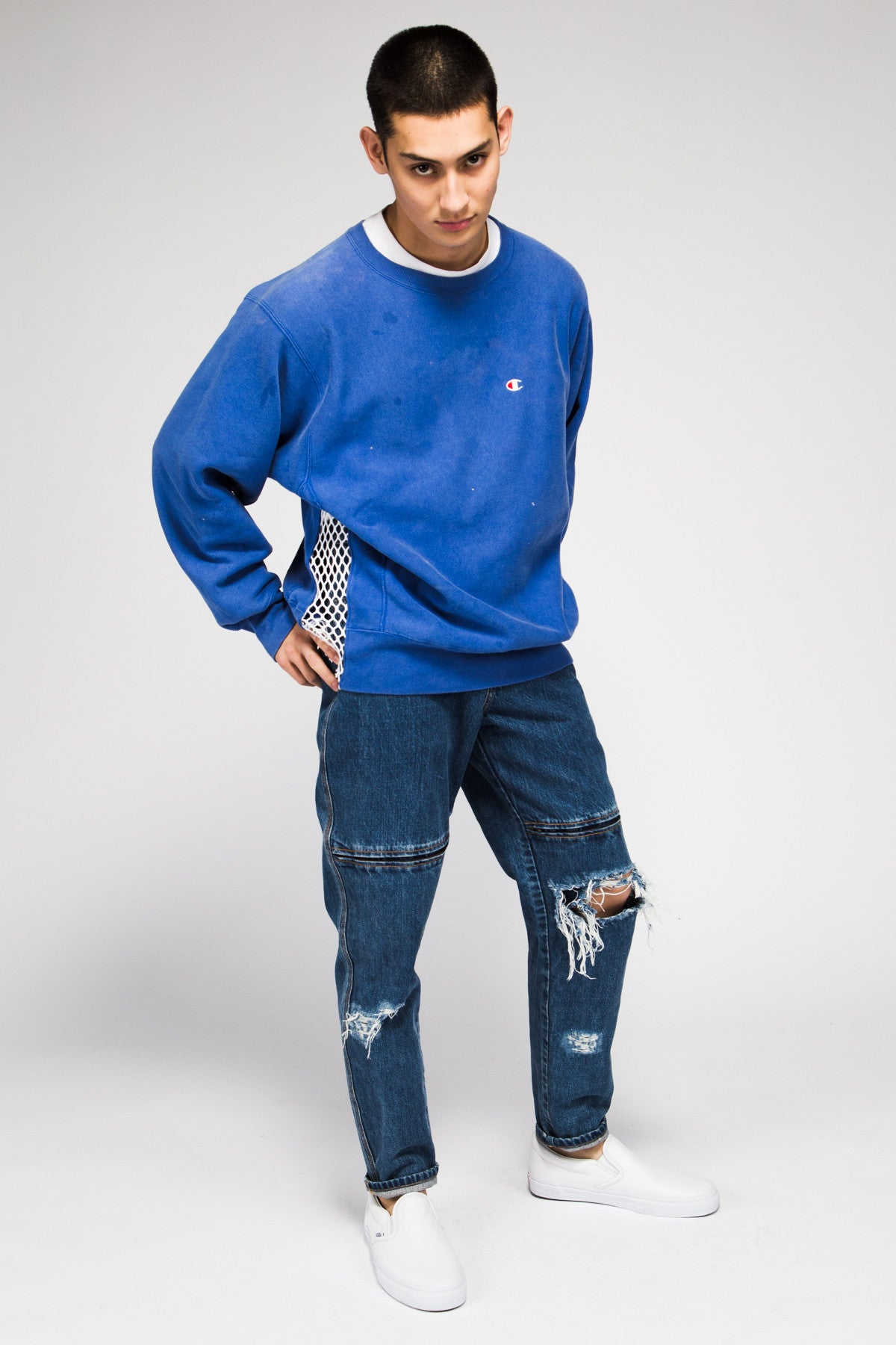 CHAMPION SWEATER IN BLUE LK1