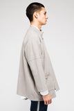 MERRILL LONG SLEEVE CARDIGAN IN GREY
