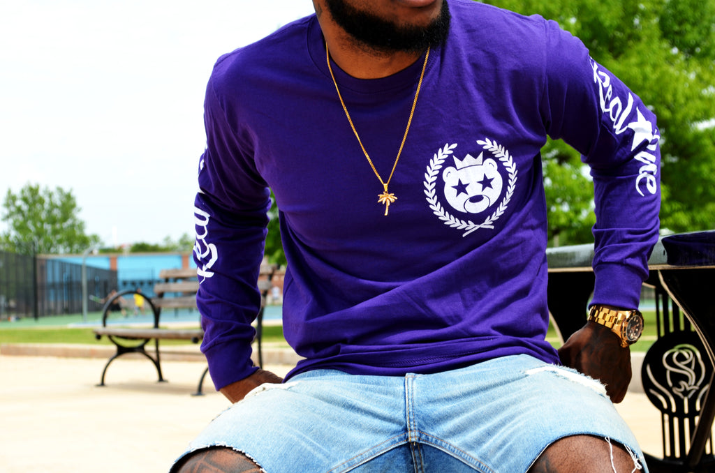 Fresh classic purple shirt made by of of the best streetwear brands and lifestyle brands in the world! Always Streetwear official in this purple long sleeve.