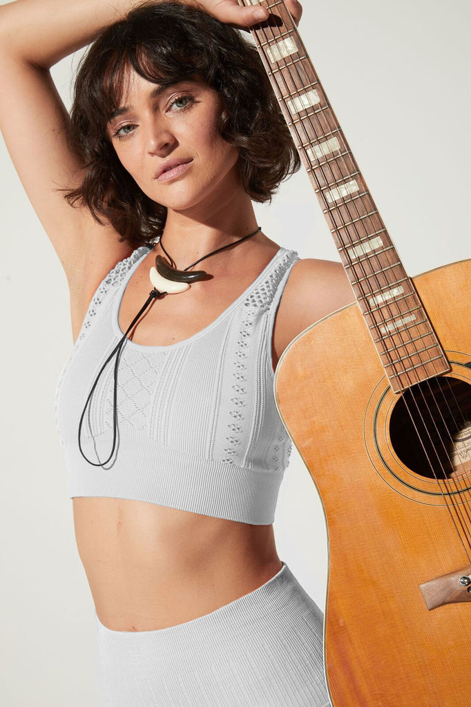 Moto Bra in Vintage Cool Grey