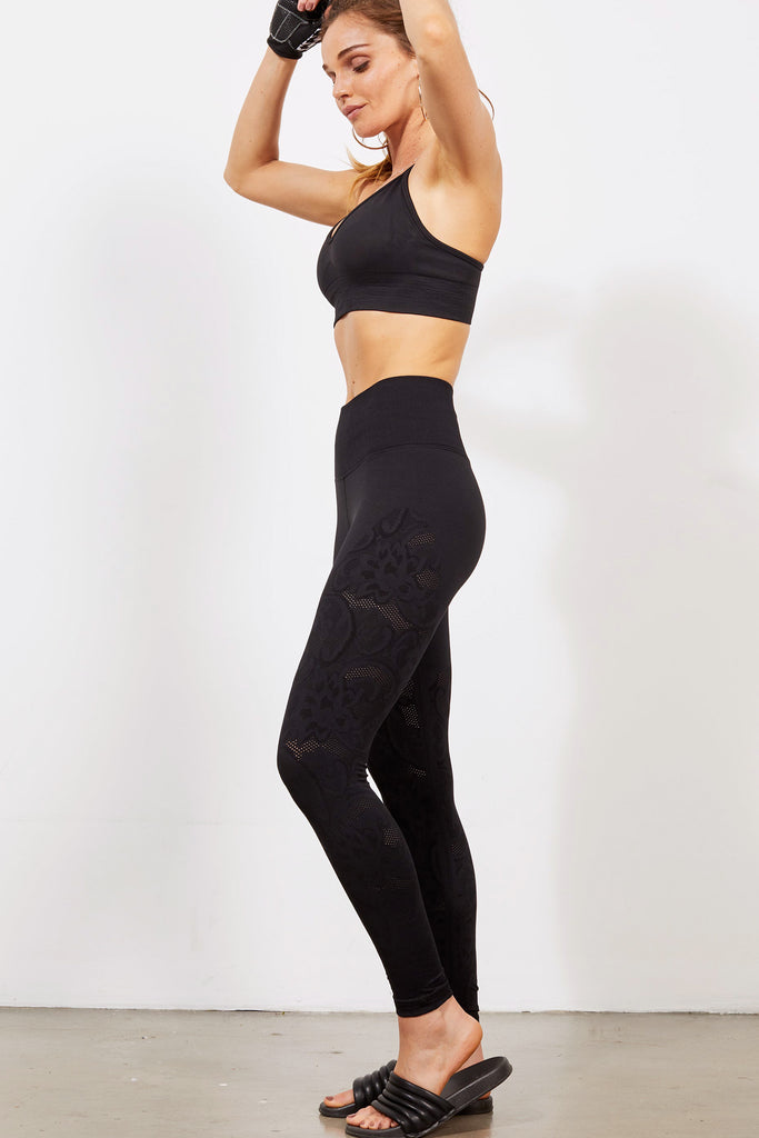 Bella Lace Legging in Black