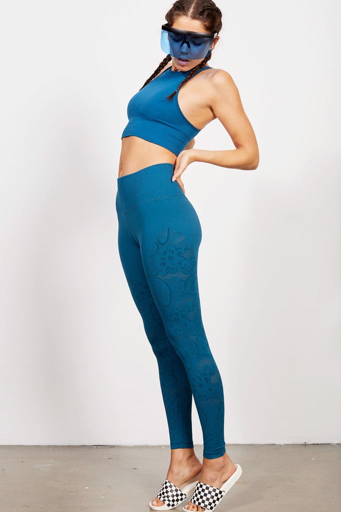 Bella Lace Legging in Oceana