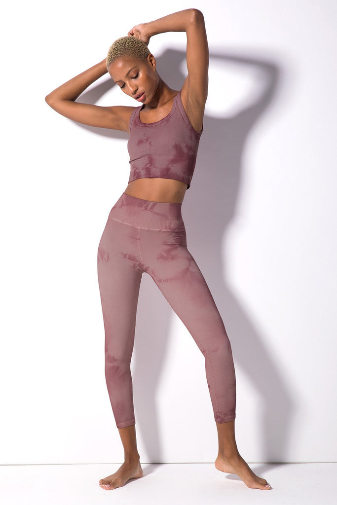 Haze Renee 7/8 Rib Legging in Antique Lilac Haze