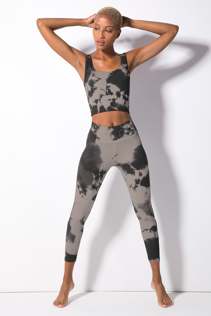 Haze Renee 7/8 Rib Legging in Black Haze