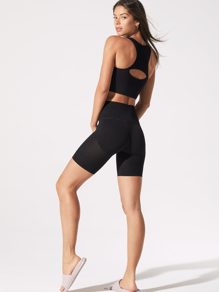 Mesh Biker Shorts in Black