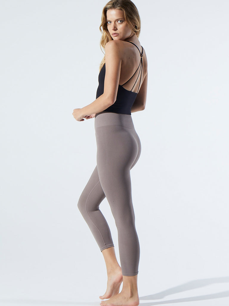 Earth Capris in Pewter